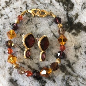 Swarovski crystal set Worn once Earrings/bracelet.